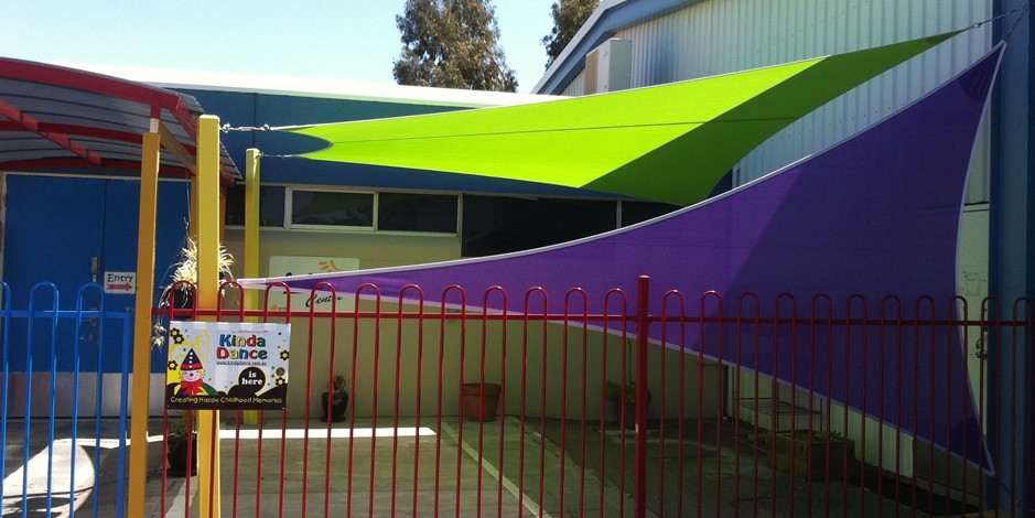 Childcare center shade sails perth