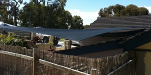 Beautiful courtyard shade sails by one shade sails perth