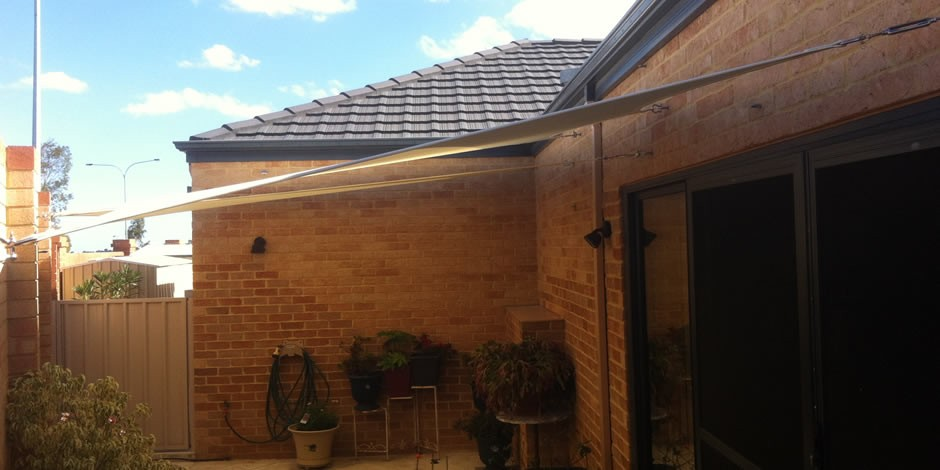 courtyard shade sails by one shade sails perth