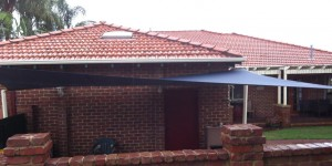 Replacement shade sails after recent storm in canning vale