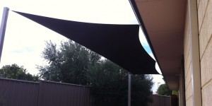 Kallaroo shade sails replacement, after recent storm