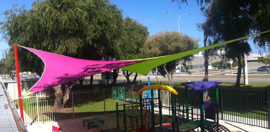 ONE Shade sails Perth, rockingham childcare facility
