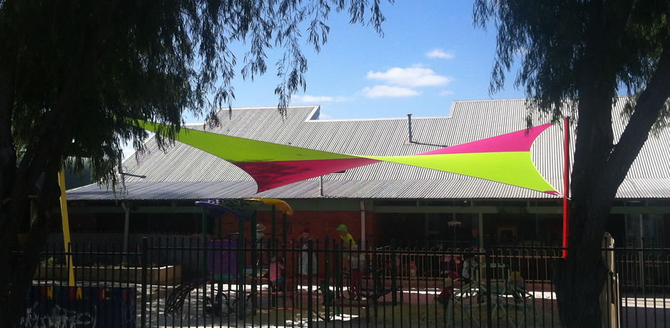 ONE Shade sails Perth, rockingham childcare facility