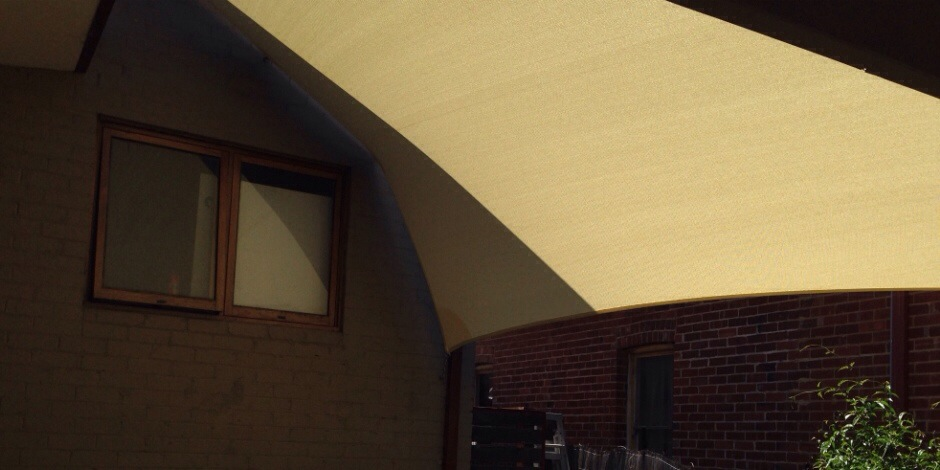 ONE Shade sails Perth - decking and window protection