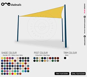 Shade Sail Colour Design - Perth WA
