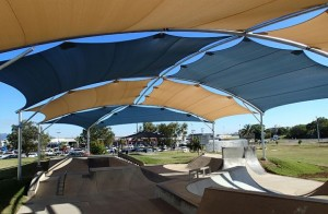 Excellent example of a shade structure