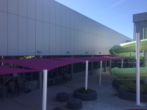 Cannington Leisure Plex. view 4 shade sails