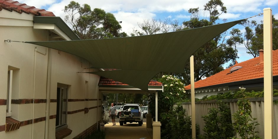One shade sails carport shade sails 3 for Shade sail cost